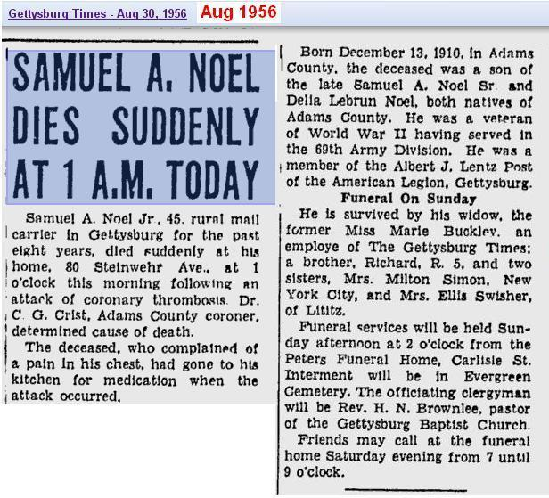 obit - Samuel A Noel Jr - 30 Aug 1956 - Penn 2