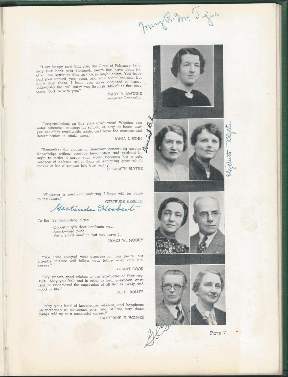 1938 HS Yearbook pg 07