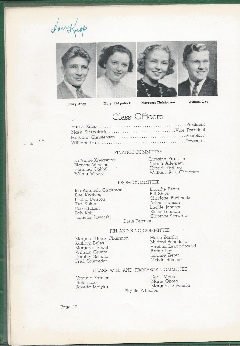1938 HS Yearbook pg 10
