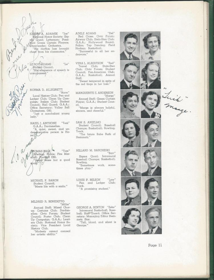 1938 HS Yearbook pg 11