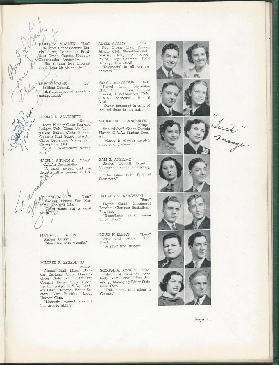 1938 HS Yearbook pg 11