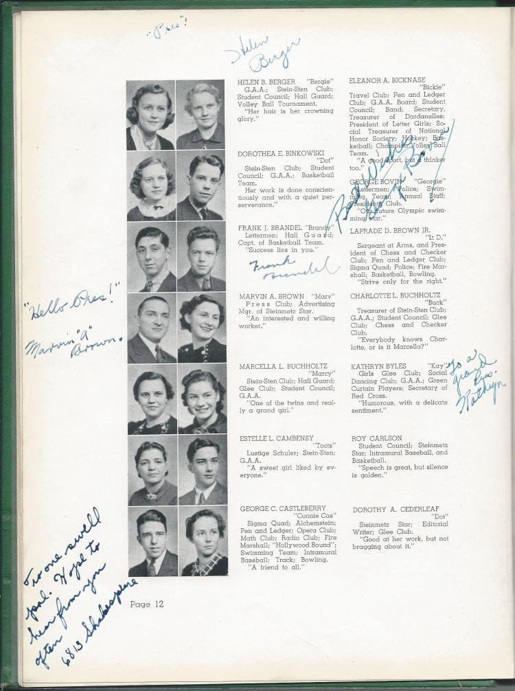 1938 HS Yearbook pg 12