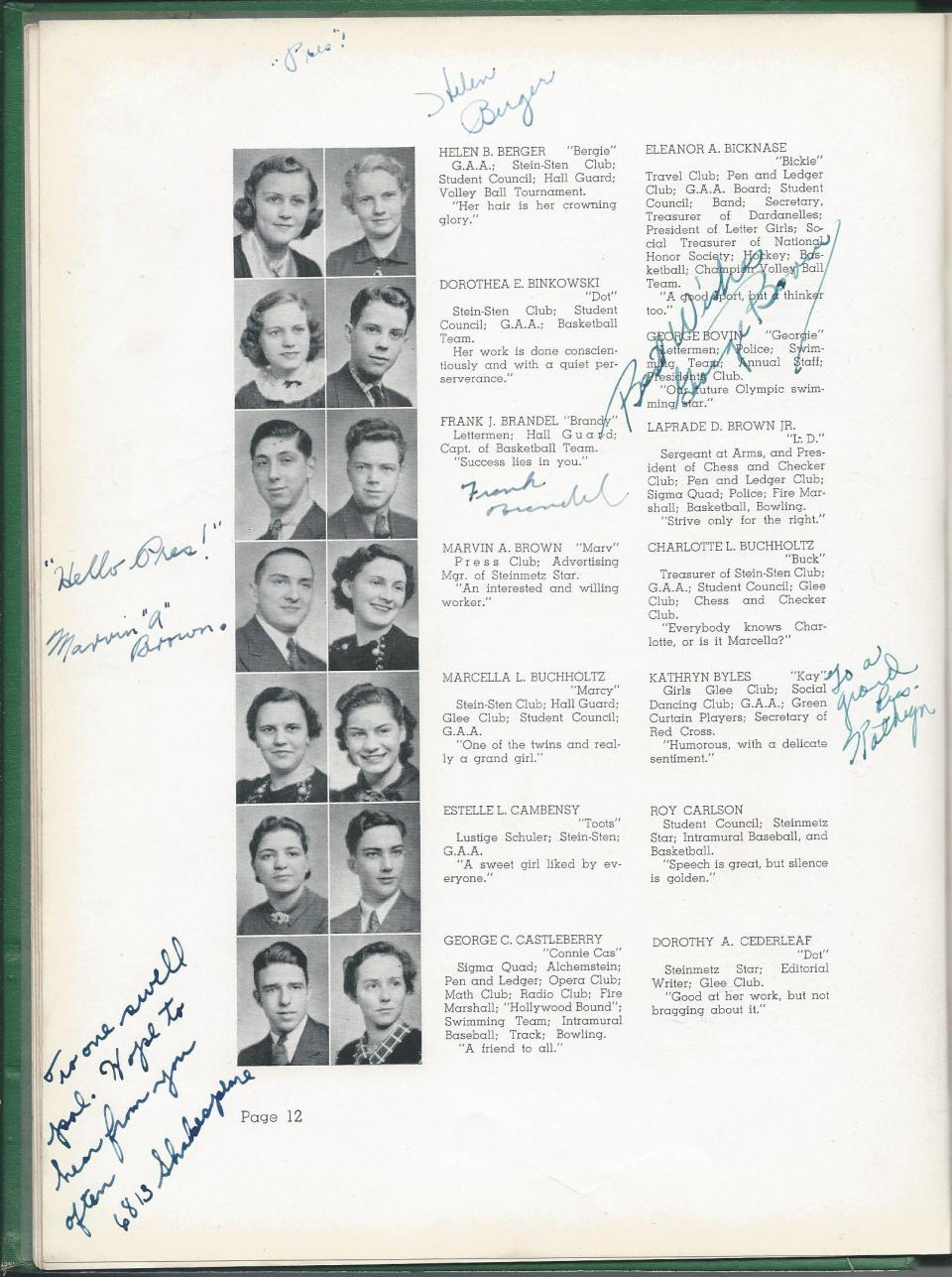 1938 HS Yearbook pg 12