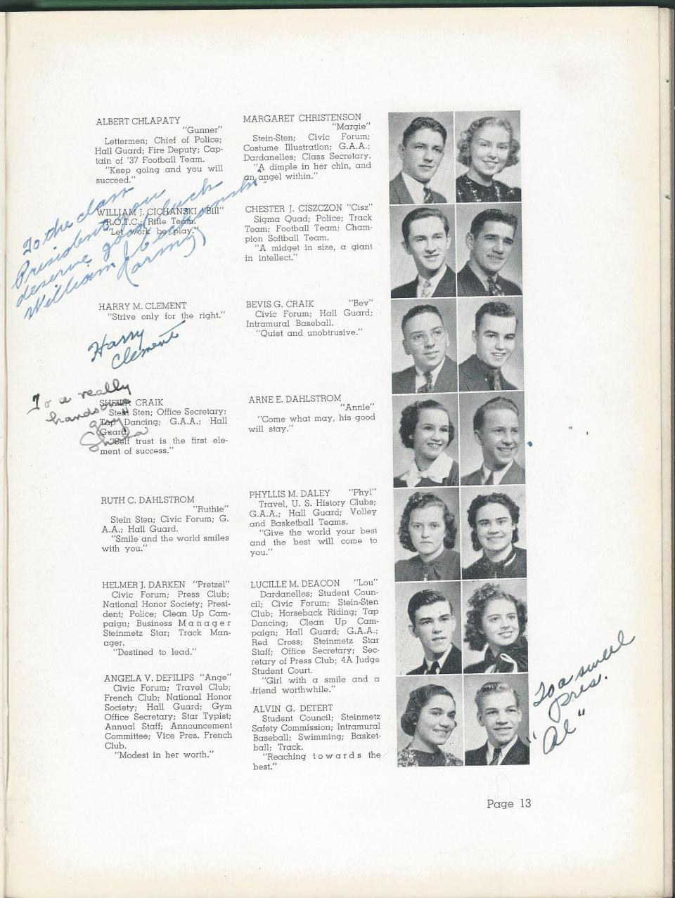 1938 HS Yearbook pg 13