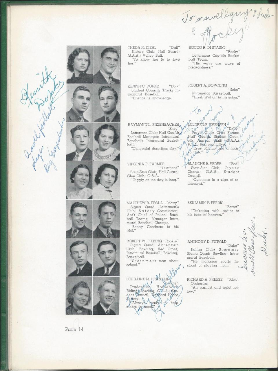 1938 HS Yearbook pg 14