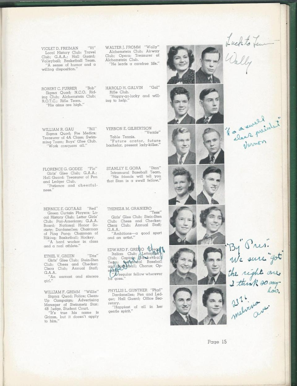 1938 HS Yearbook pg 15