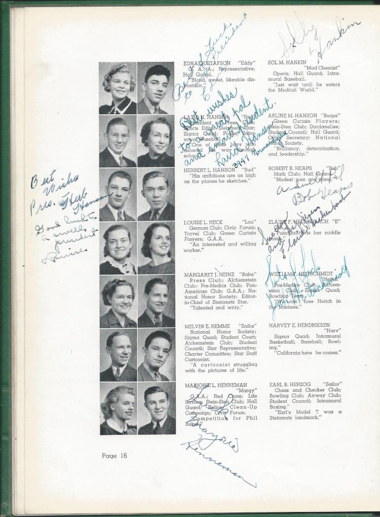 1938 HS Yearbook pg 16