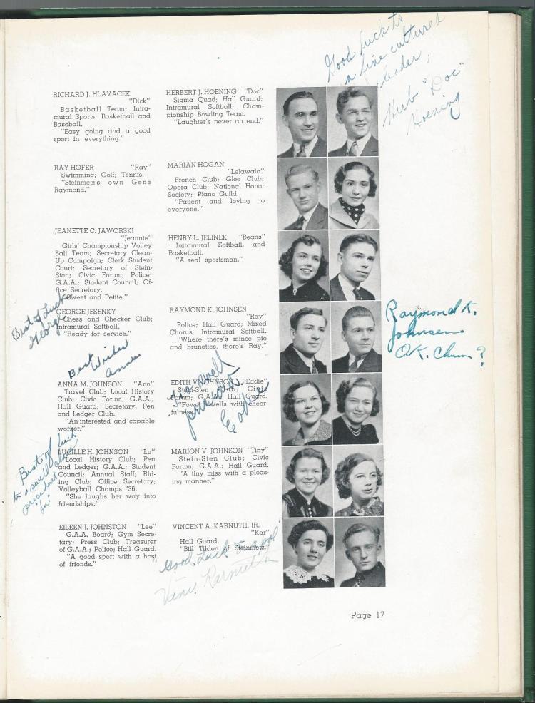 1938 HS Yearbook pg 17