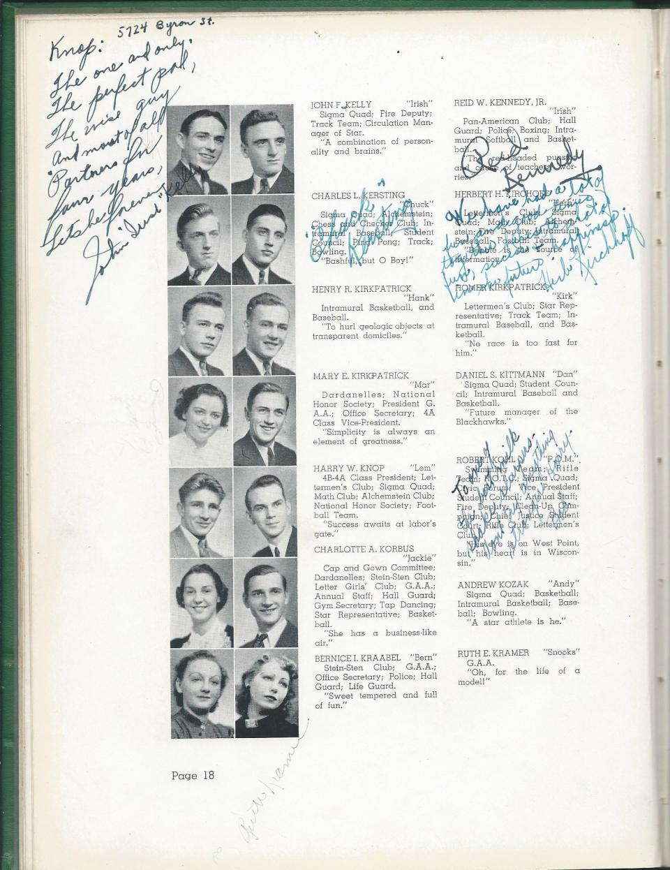 1938 HS Yearbook pg 18
