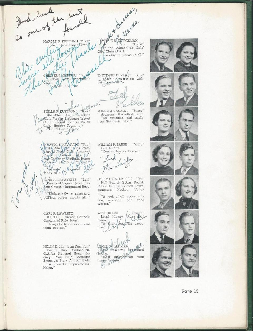 1938 HS Yearbook pg 19
