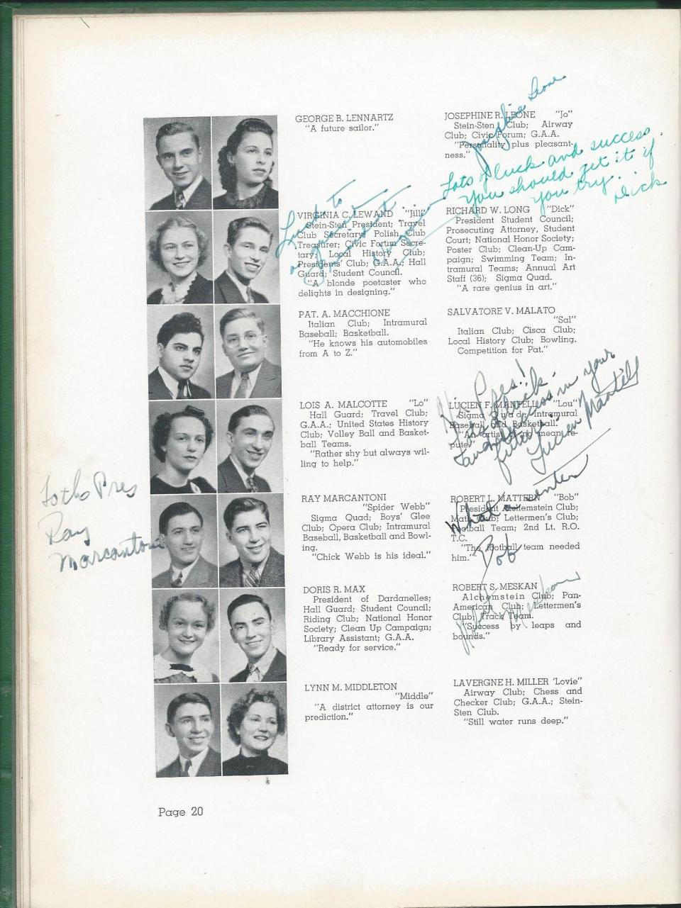 1938 HS Yearbook pg 20