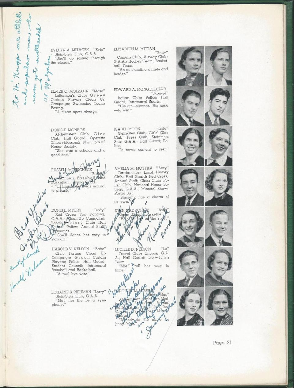 1938 HS Yearbook pg 21