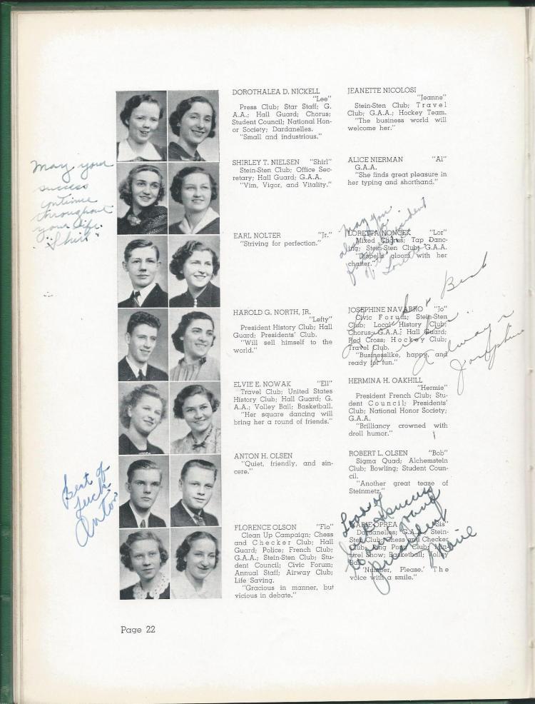 1938 HS Yearbook pg 22