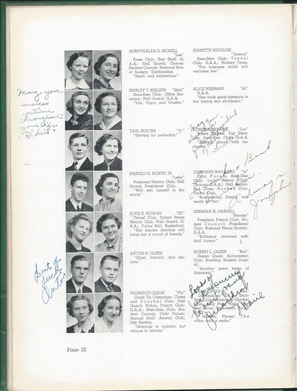 1938 HS Yearbook pg 22