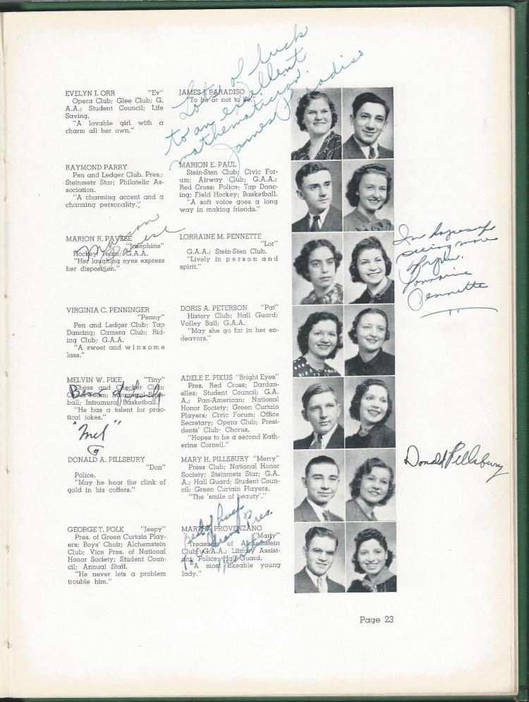 1938 HS Yearbook pg 23
