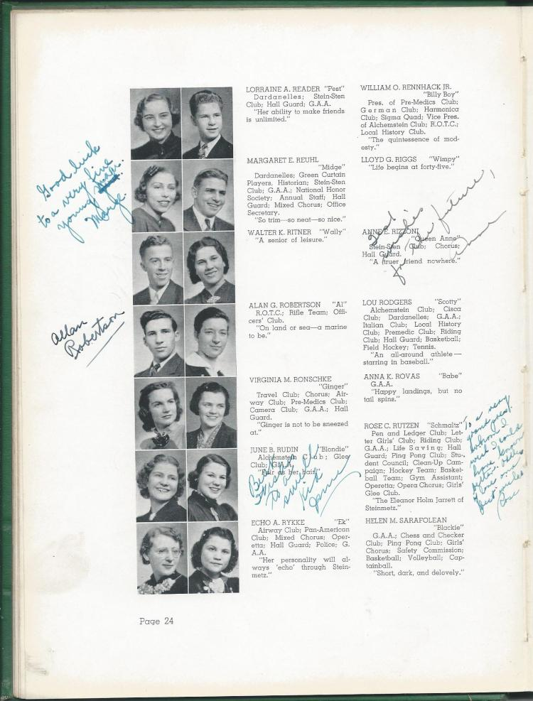 1938 HS Yearbook pg 24