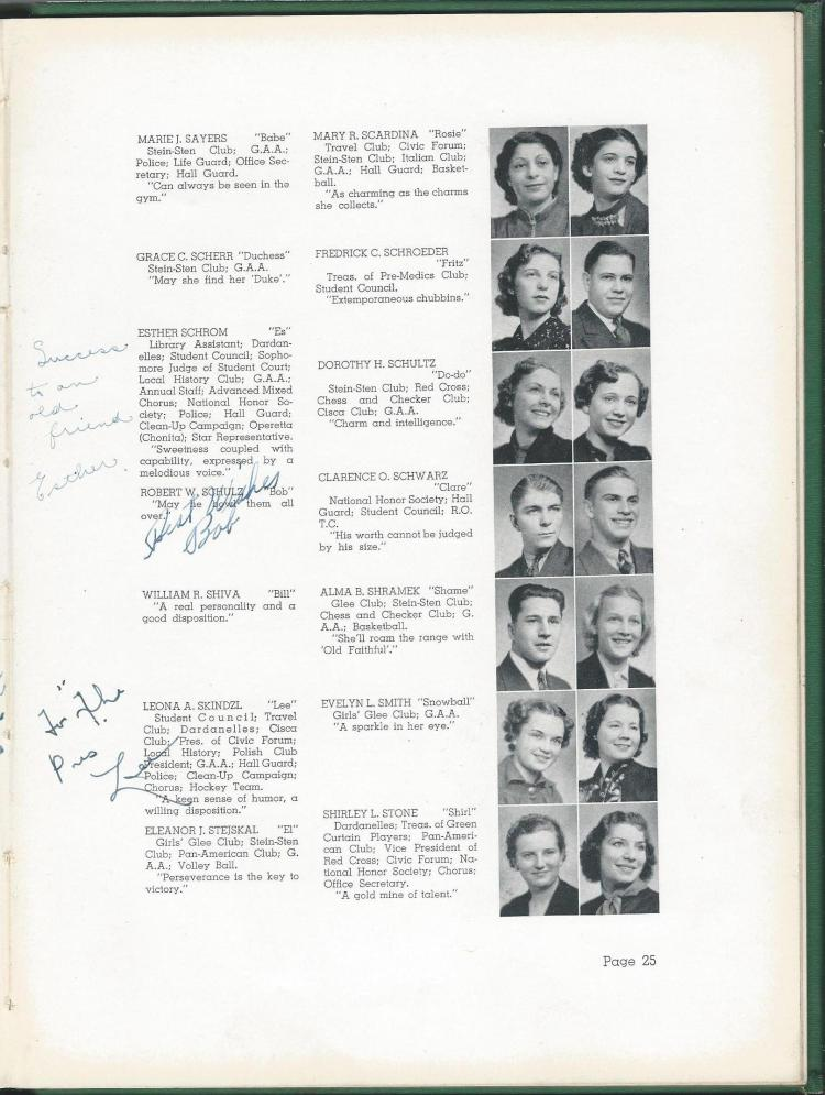 1938 HS Yearbook pg 25