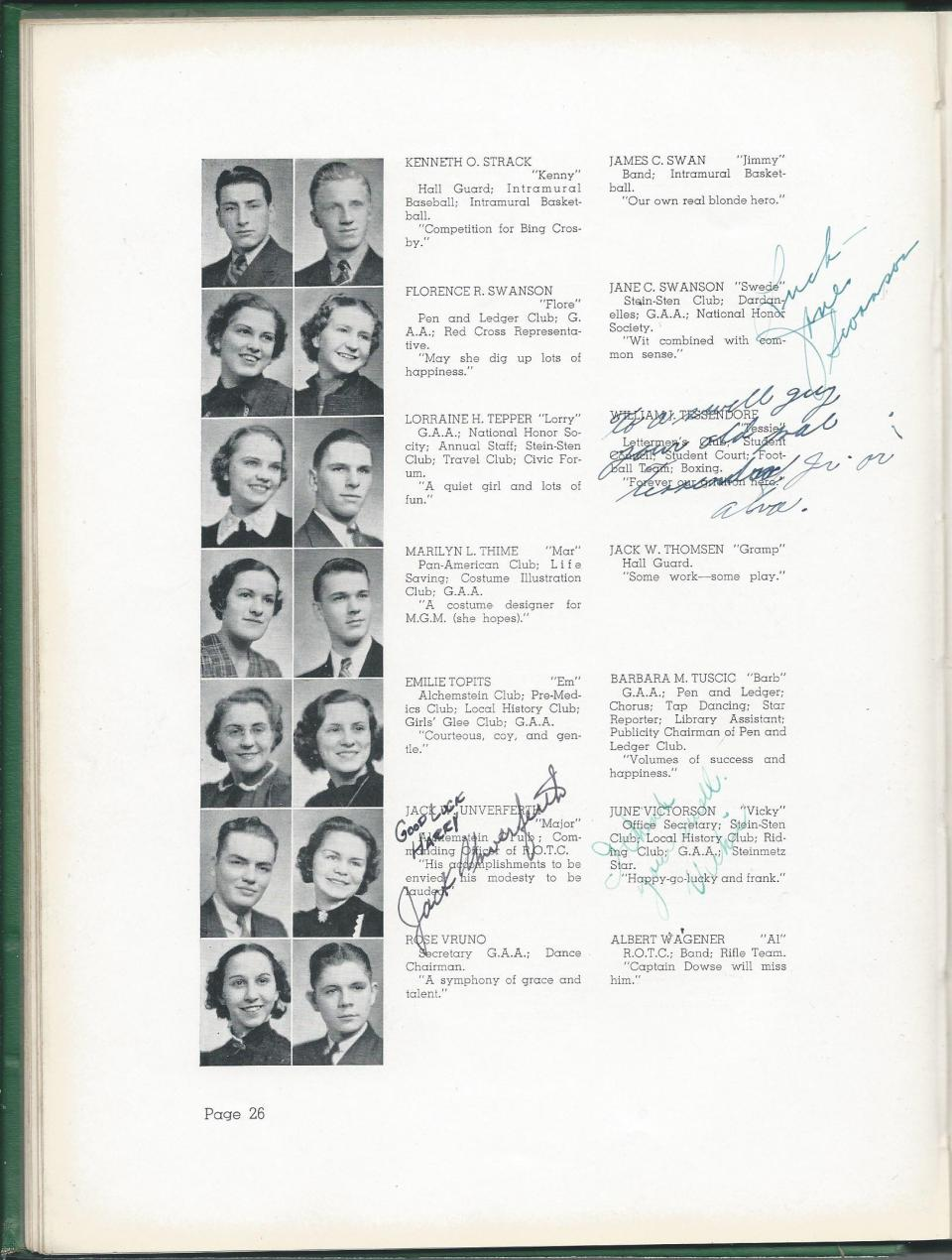 1938 HS Yearbook pg 26
