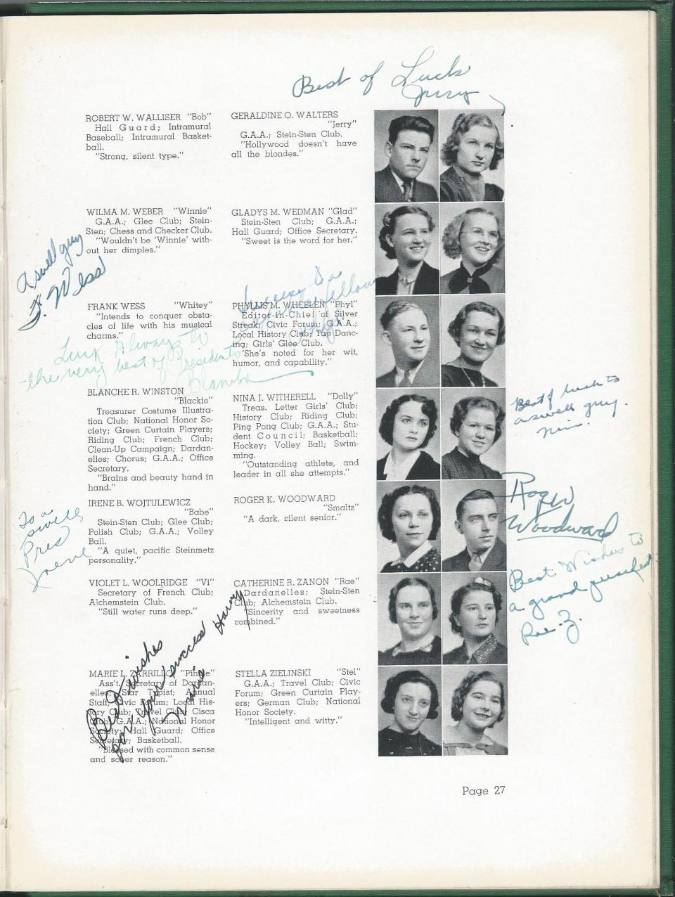 1938 HS Yearbook pg 27