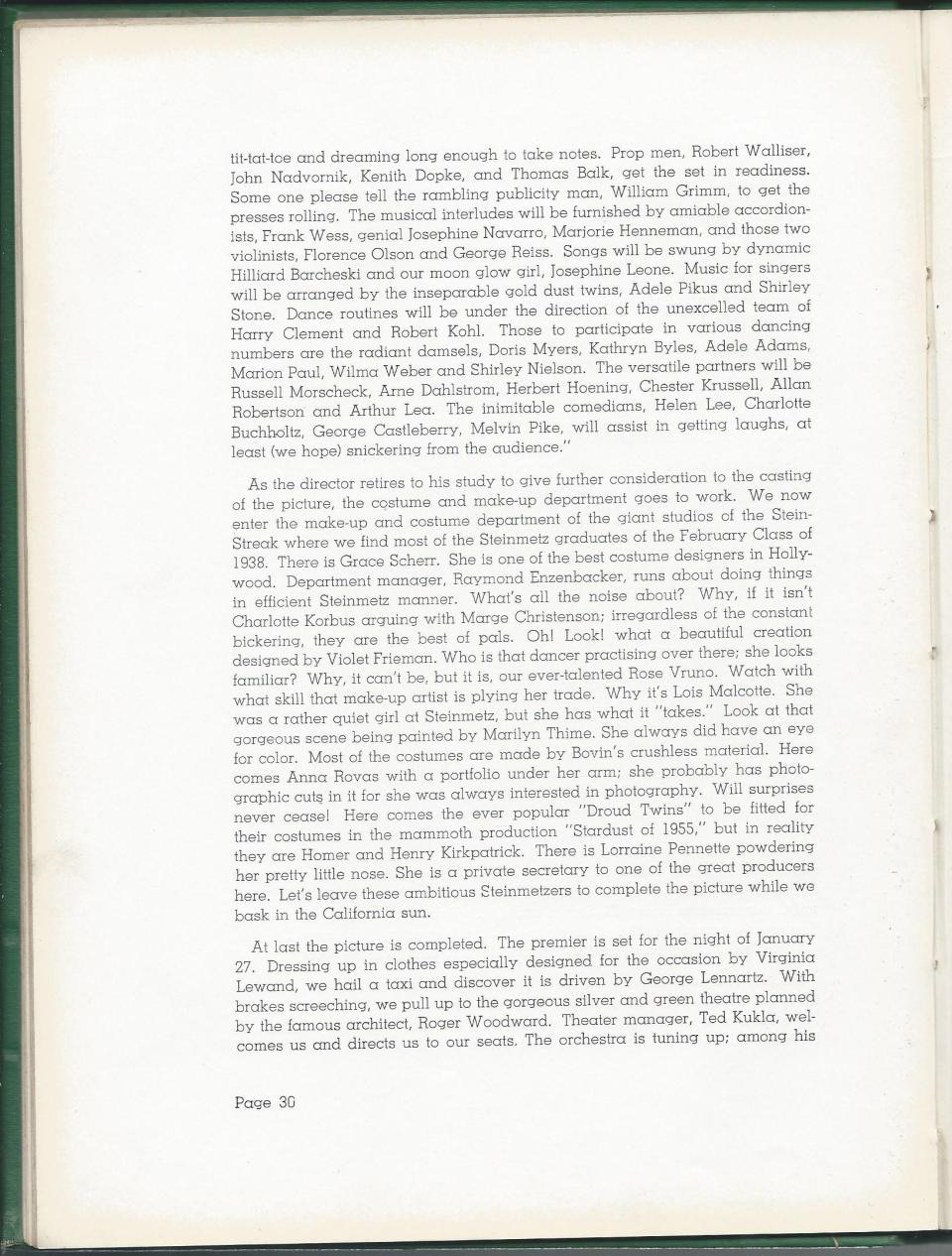 1938 HS Yearbook pg 30