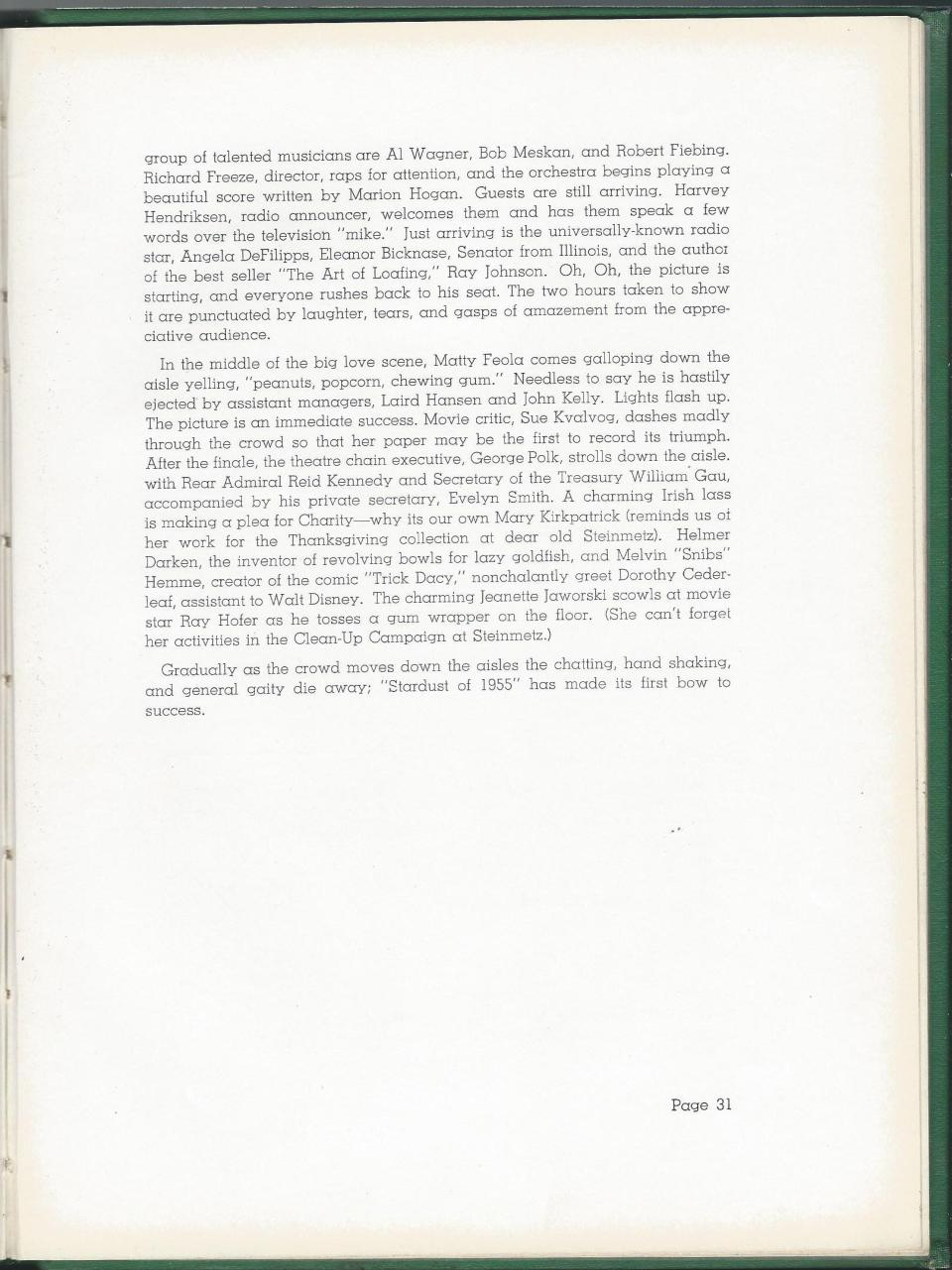 1938 HS Yearbook pg 31