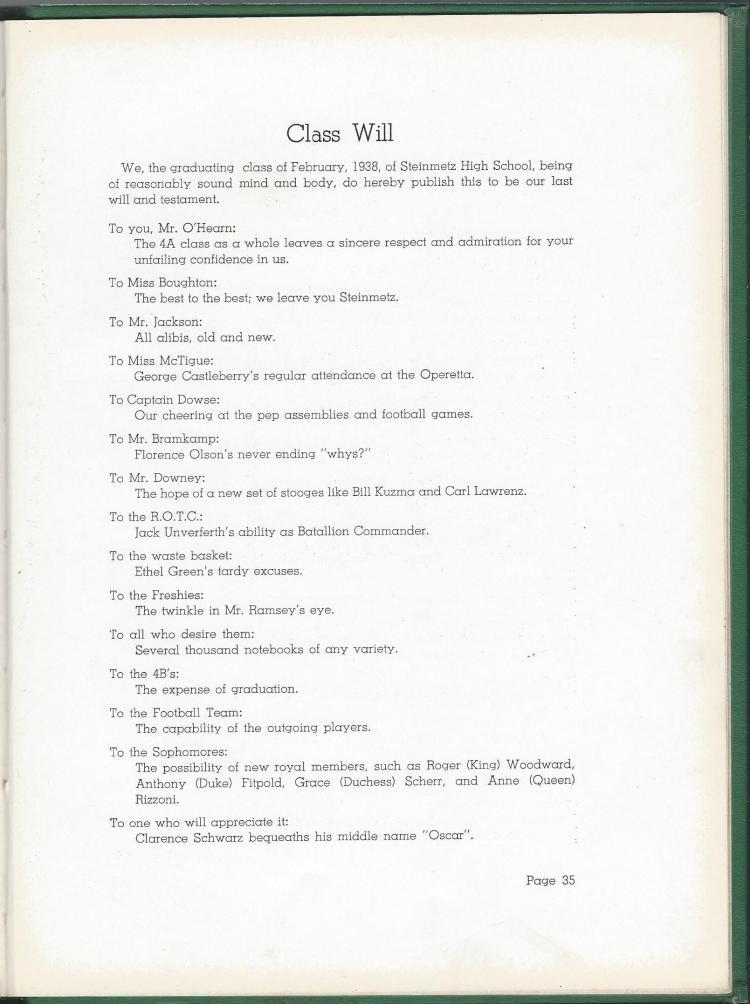1938 HS Yearbook pg 35