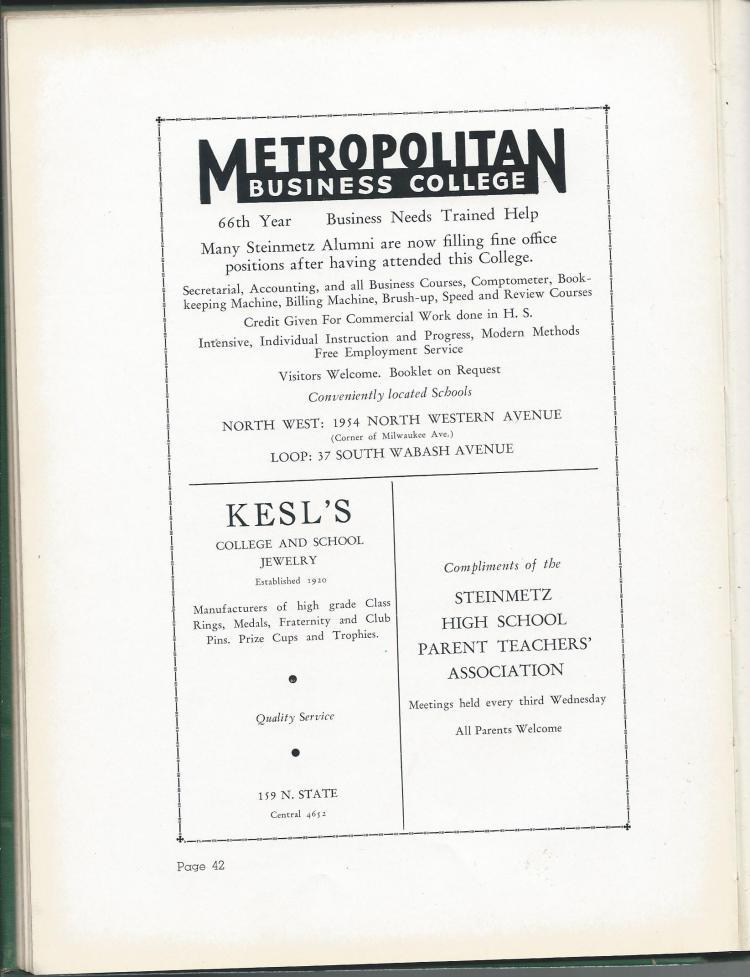 1938 HS Yearbook pg 42