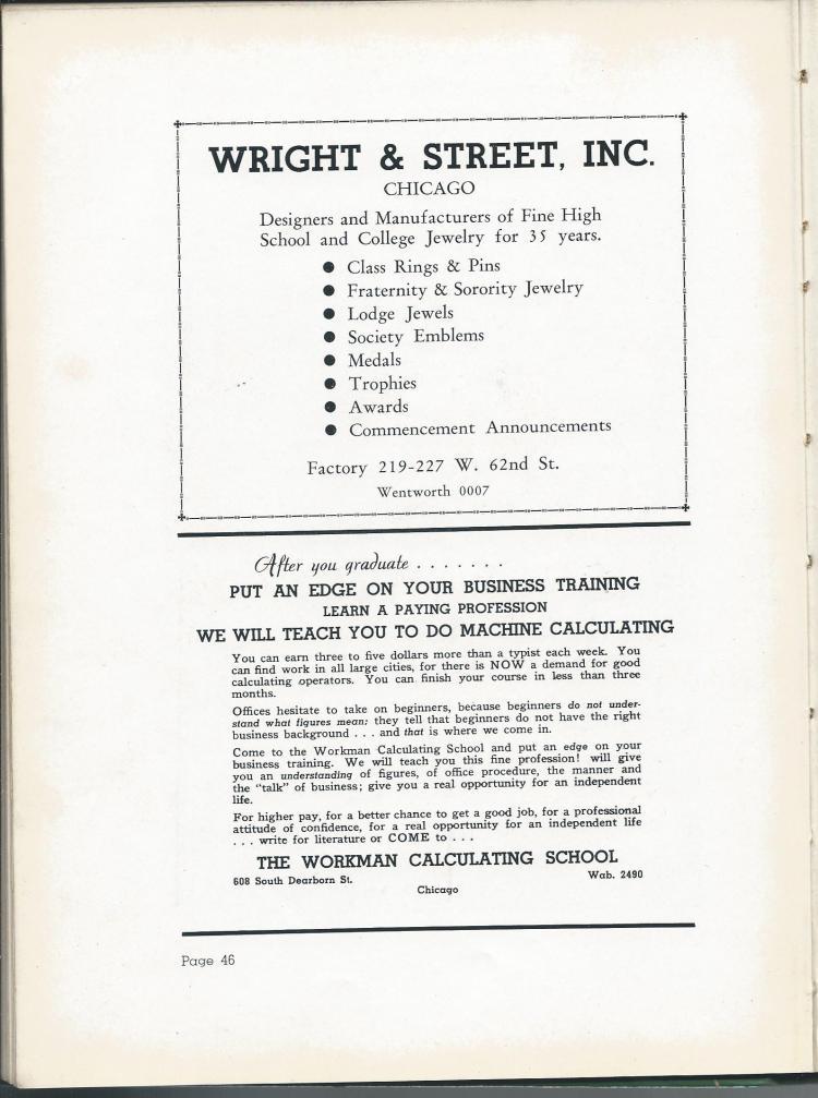 1938 HS Yearbook pg 46