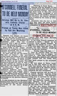 funeral - Francis OConnell - Aug 1925 - Mich