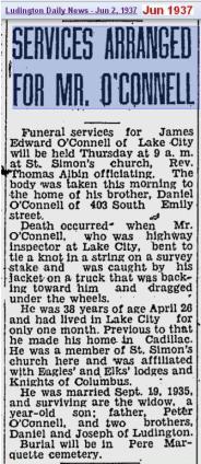 funeral - James Edward OConnell - Jun 1937 - Mich