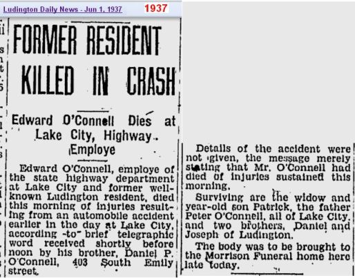 obit - Edward OConnell - Jun 1937 - Mich - cropped