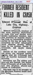 obit - Edward OConnell - Jun 1937 - Mich