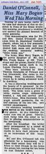 wedding - OConnell 2 Bogus - Jun 1925 - Mich