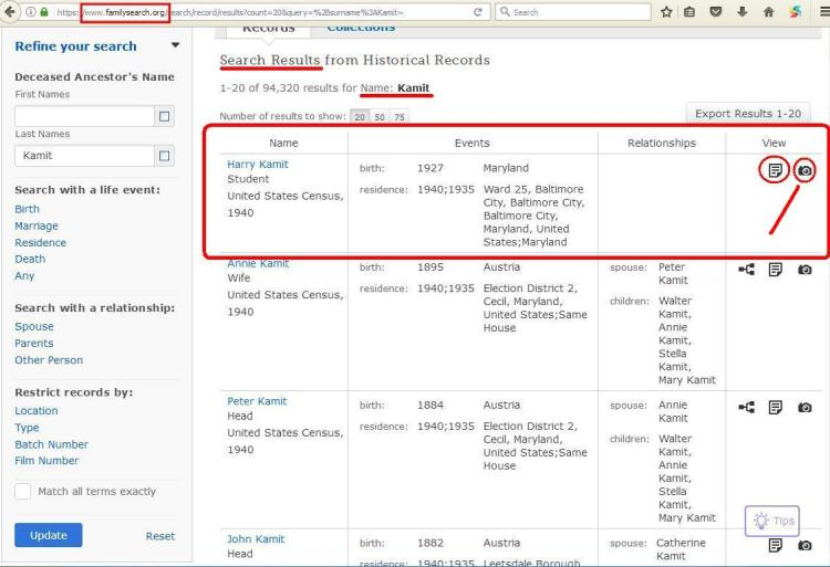 11 - z - How To save FamilySearch records to computer 01