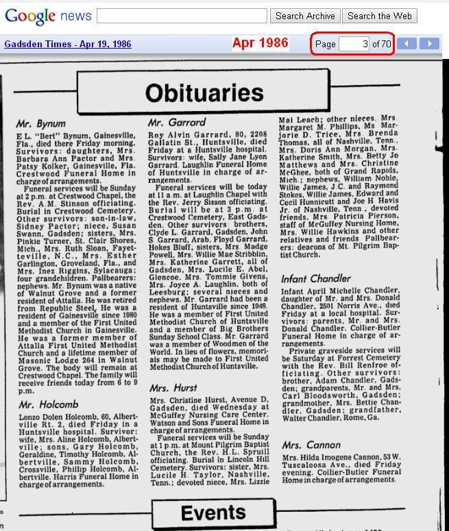 04 - Apr 19 1986 - items in Alabama newspaper