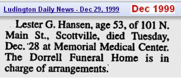 death - Lester G Hansen - Dec 1999 - Mich