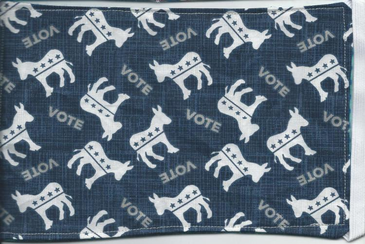 Aug masks blue with white donkey only